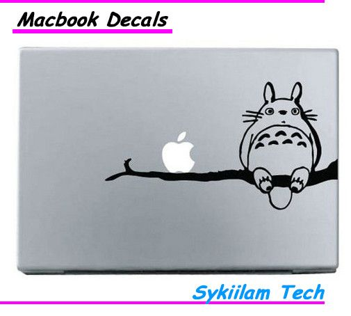 Totoro Sit on Tree Cartoon Sticker for Apple Macbook Skin Air 11 13 Pro 13 15 17 Retina Laptop Wall Auto Vinyl Decal