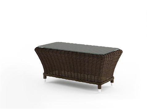 leonardo stolik z umeleho ratanu hnedy