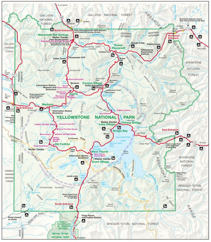 Top Best Map Of Yellowstone Ideas On Pinterest Yellowstone - Us map best roadtrip map