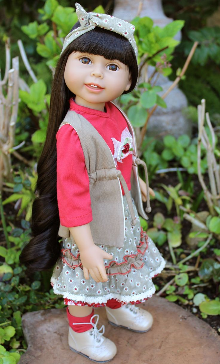 Ethnic 18 inch dolls available at www.harmonyclubdolls.com Silky kanekalon realistic wigged hair, soft vinyl bodies. Size of American Girl.