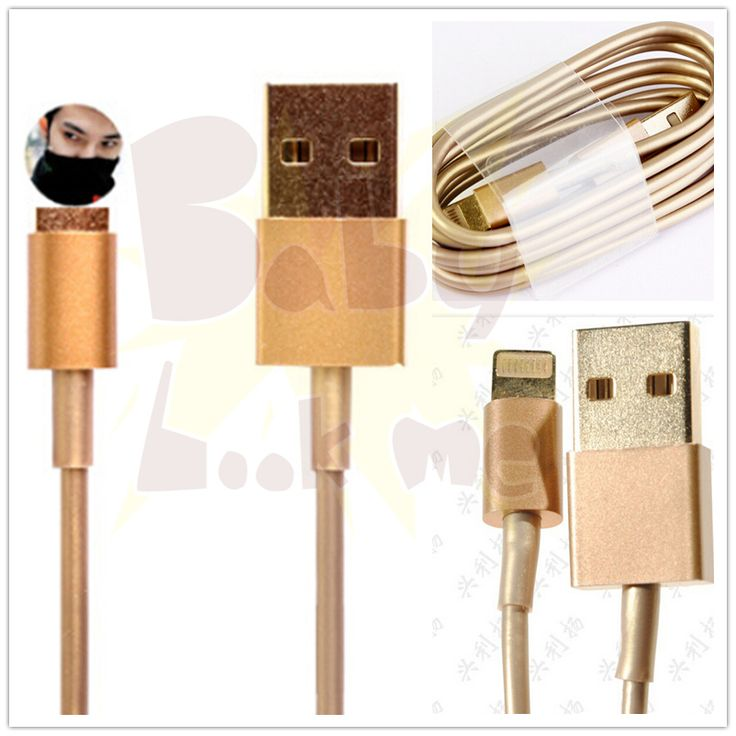 Luxury Gold 3feet 8Pin USB Data Sync Charger Cable For iPhone 6 6 Plus iOS8 iPhone5 5S 5C iPod Nano