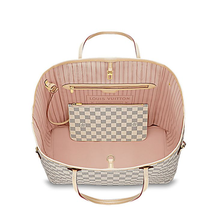 Neverfull GM - Damier Azur Canvas - Handbags | LOUIS VUITTON $1340