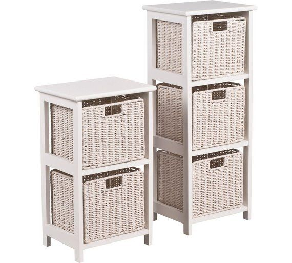 Buy Collection 2 and 3 Drawer Unit - White at Argos.co.uk, visit Argos.co.uk to shop online for Bathroom shelves and storage units, Bathroom furniture, Home and garden