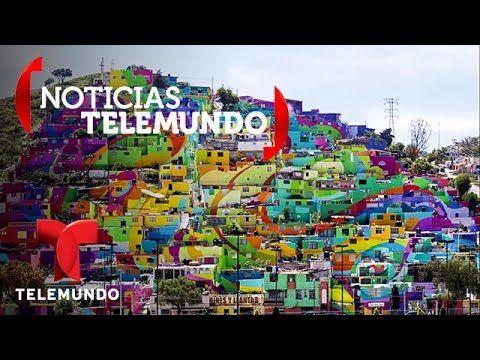 Convierten barrio de Pachuca, México, en colorido mural para combatir violencia | Noticias | Noticia - YouTube
