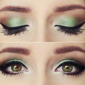 """""""Mint green shadow is beautiful for spring and summer, but also makes your eyes look well rested & youthful."""""""