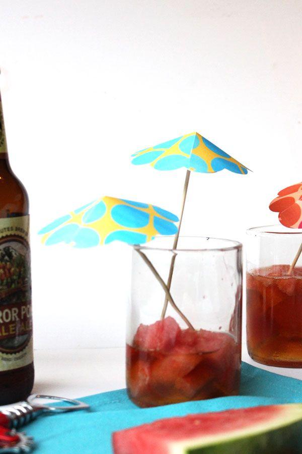 Drink Umbrella DIY Tutorial & Free Printable