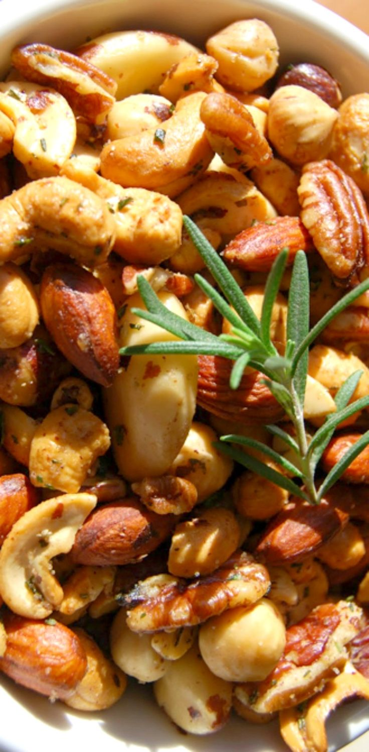The Union Square Cafe's Bar Nuts--These nuts are slightly salty, sweet,and spicy and are flavored with the perfect amount of delicious, fresh rosemary! Great to serve as an appetizer or to make and give as gifts. You won't believe how quick and easy they are to put together!