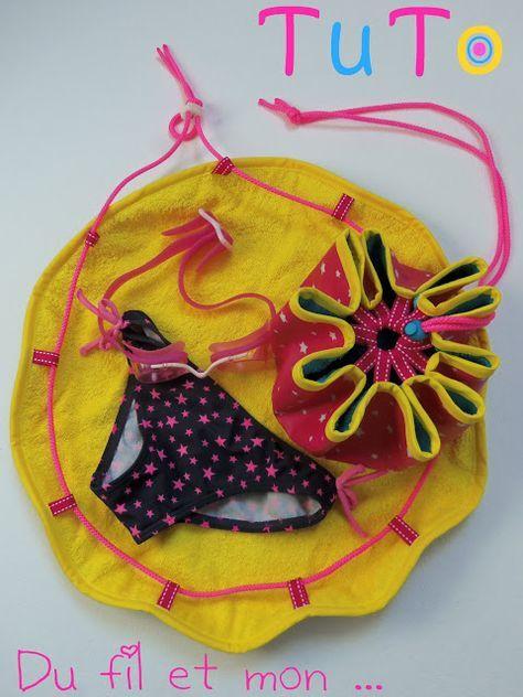 Tuto pour faire un sac pieds secs pour la piscine : se changer au sec et ranger son maillot mouillé à l'intérieur.