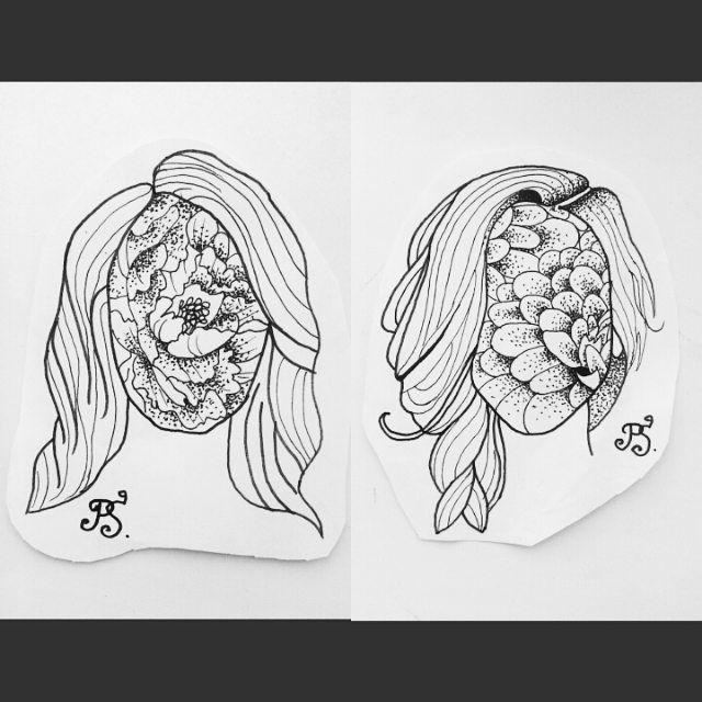 #тату #татуировка #татуэскиз #эскиз #графика #дотворк #дотворктату #чб #цветы #природа #портрет #девушки #tattoo #tattoosketch #sketch #graphic #dotwork #dotworktattoo #bw #flowers #nature #portrait #girls