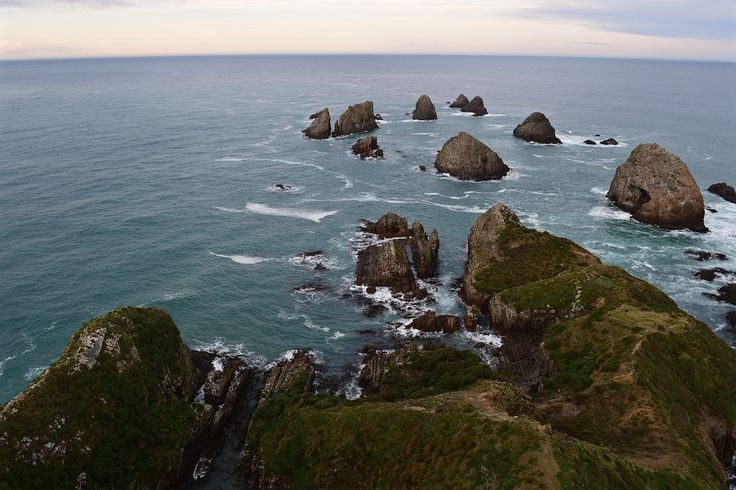View from Nugget Point Lighthouse in Southern New Zealand