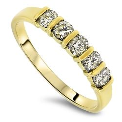 0.50cts Diamond Ring Set in 18ct Gold