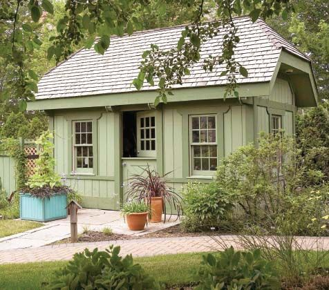 The plans call it a 'garden shed.'  Forget that.  I call it a sanctuary.