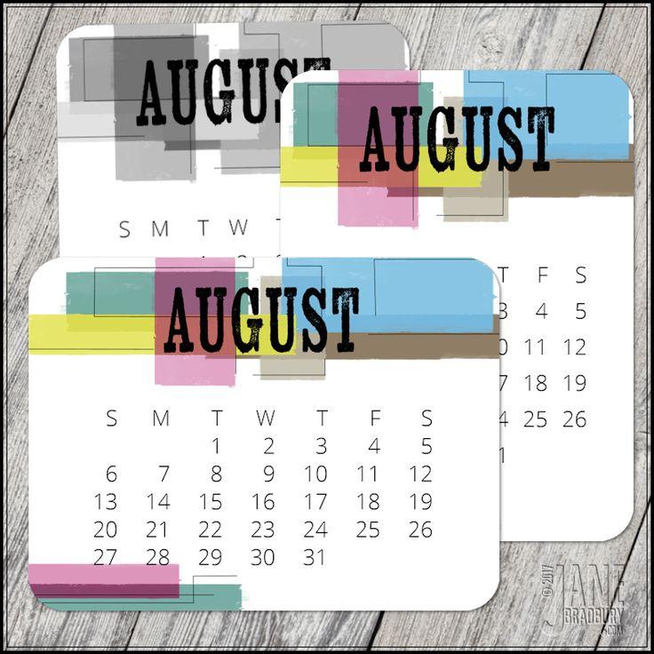 August 2017 Pocket Calendar Cards   3 x 4   Free Printables