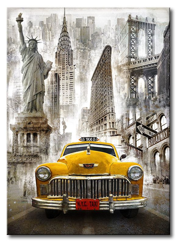 CUADROSTOCK.COM - BRS-010-Cuadro Taxi New York / Bresso Solà