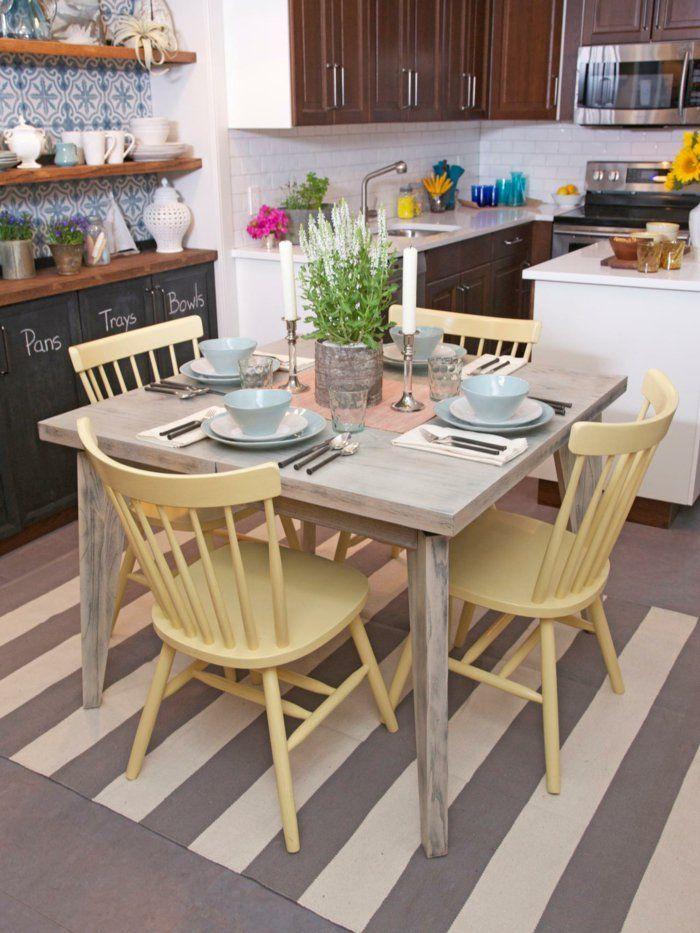 деревянные желтые стулья для кухни фото