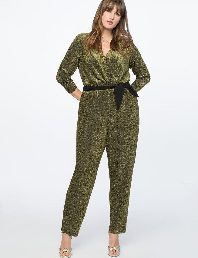710bbfe2a2f Full Sleeve Metallic Jumpsuit from eloquii.com