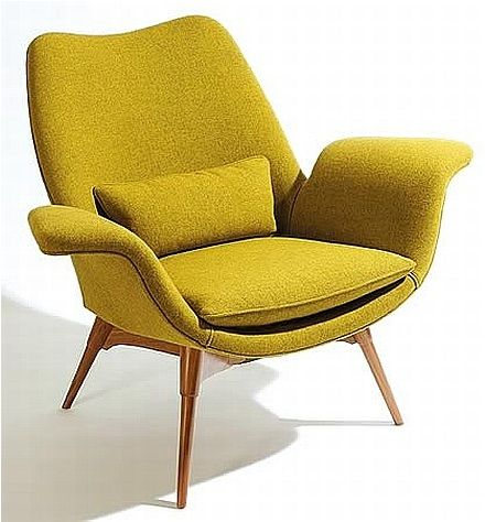 Featherston | The shape of this armchair resembles some features of the armchair in my DIY upholstery project.