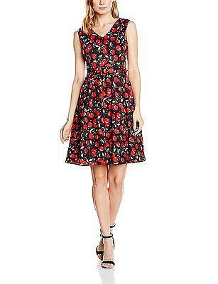 UK XL, Schwarz (black/red Cherry Print Chb), Dolly and Dotty Women's Petal Casua