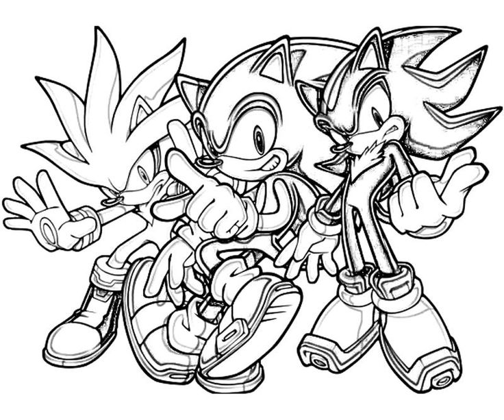 Sonic coloring pages including ones you have to finish ...