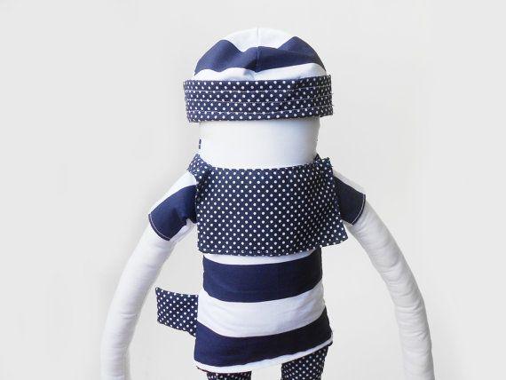 Boneco de pano marinheiro Zé Marinheiro Boneco de by Zezling