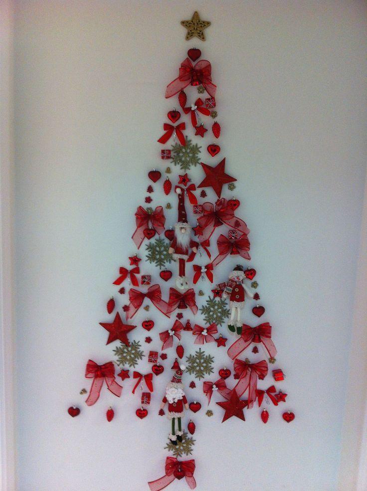 Rbol de navidad en pared mis manualidades navidad - Hacer arbol navidad ...