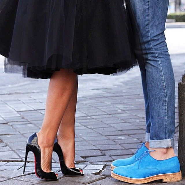 Saturday night date night! #louboutinworld by talkshoes