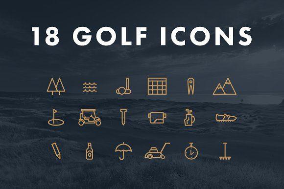 Golf Icons by Ruiz Creative  on @creativemarket