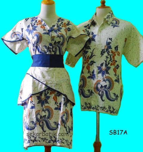 dress batik sarimbit modern terbaru