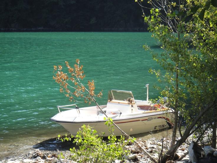 Onze boot ~ our boat at Lago di Como