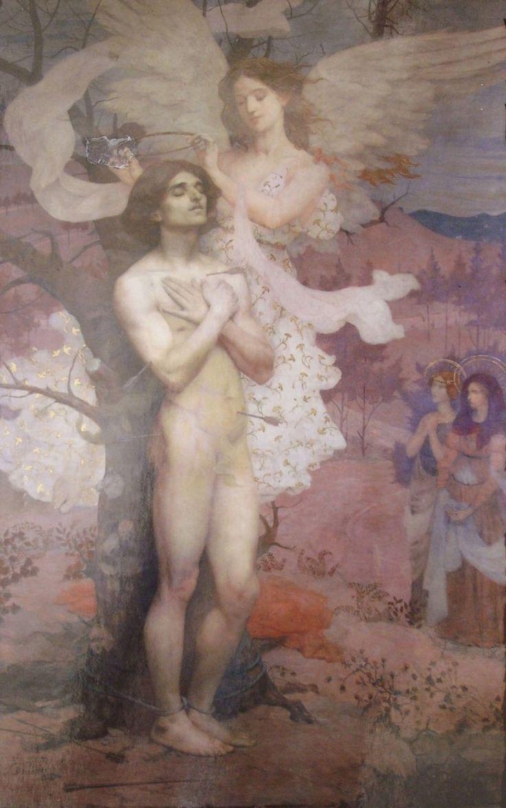 RECOMPENSA DE SÃO SEBASTIÃO - OST - 218 x 133 cm - 1898 - MUSEU NACIONAL DE BELAS ARTES/RIO DE JANEIRO/RJ  -MEDALHA DE OURO NA EXPOSIÇÃO UNIVERSAL DE SAINT LOUIS-EUA-1904