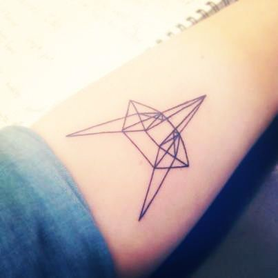 http://tattoomagz.com/origamis-tattoos-on-arms/bird-from-ornaments-origami-tattoo-on-arm/