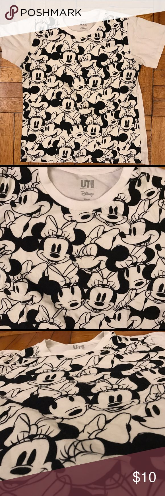 Uniqlo x Disney Minnie Mouse Shirt This is a black and white Minnie Mouse printed t-shirt from the limited edition Uniqlo x Disney collection this past fall. I used this item 5x max and just don't find myself wearing it so I want it to bring joy into someone else's life. The item is in great condition. If you have any questions please leave a comment for me below. :) Uniqlo Tops Tees - Short Sleeve