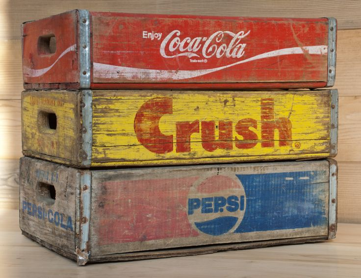 47 best vintage soda crates images on pinterest crates for Wooden soda crate ideas