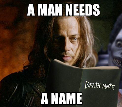 Game of Thornes/Deathnote meme teehee ; )