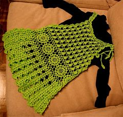 Thai Style Crocheted Summer Tunic -free pattern with charts and written explanations. Great layered or as a beach in the Summer.