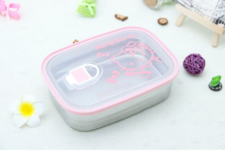 Fashion Cartoon Stainless Steel Lunch Bento Box Student Lunch Box Kids Gift