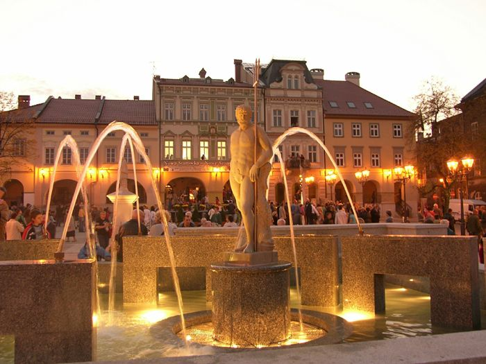 Bielsko Biala, Poland -- city fountain