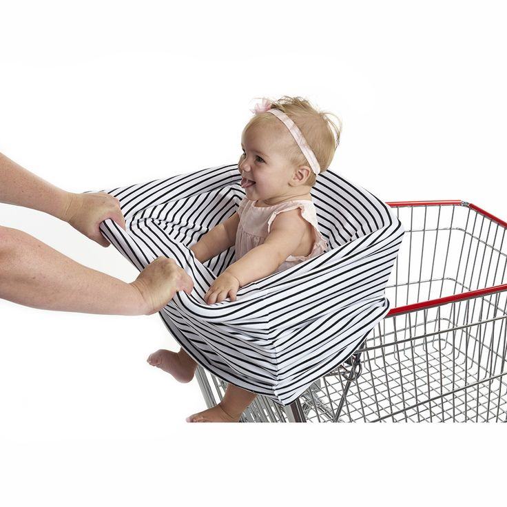 """3-in-1 Car Seat, Shopping Cart & Nursing Cover Free Carry Pouch Included """"The Pinstripe"""""""