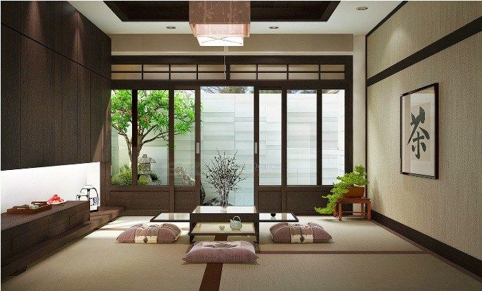 soothing japanese living room ideas                                                                                                                                                                                 More