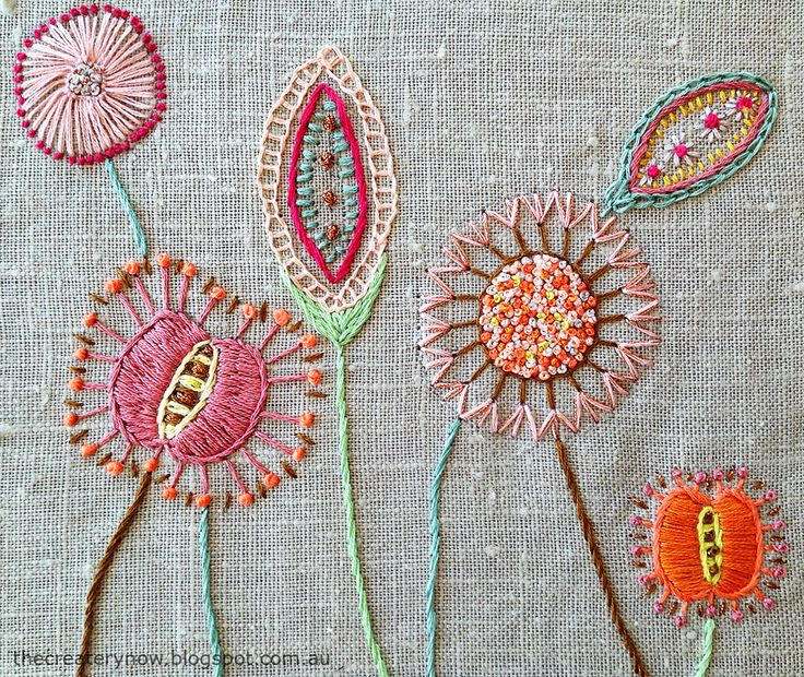 Best 25 Embroidered Flowers Ideas On Pinterest