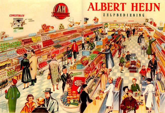 Afbeelding van https://supermarktlive.files.wordpress.com/2012/03/archief_zelfbediening1952.jpg.