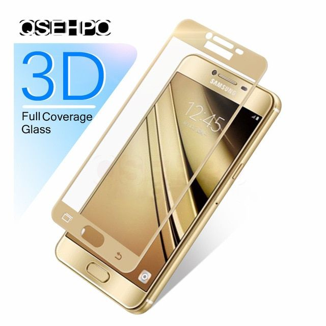 3d 9h Full Cover Tempered Glass For Samsung Galaxy A3 A5 A7 J3 J5 J7 2016 2017 J330 J530 J730 Screen Protector Fi Samsung Phone Screen Protector Samsung Galaxy