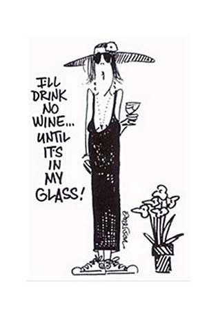 "Gourmet Rubber Stamps Cling Stamps 2.75""X4.75"" I'll Drink No Wine"