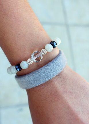 Kup mój przedmiot na #vintedpl http://www.vinted.pl/akcesoria/bizuteria/9915794-szara-bransoletka-futrzak-z-regulowanym-zapieciem