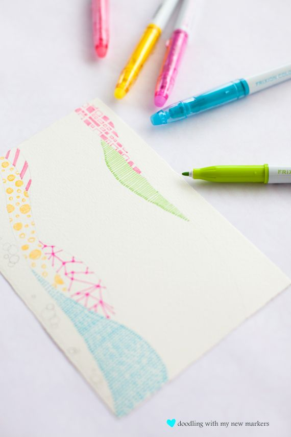 art and craft, cards and wrap blog. beautiful use of neons, too.