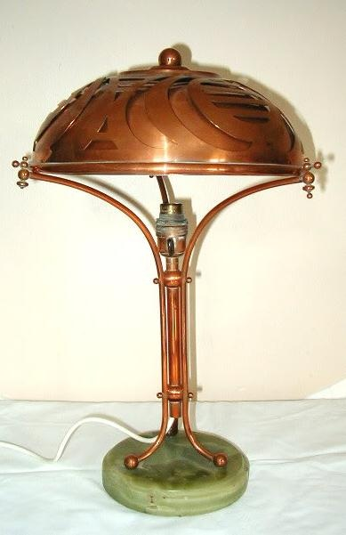 Amsterdamse School table lamp SOLD