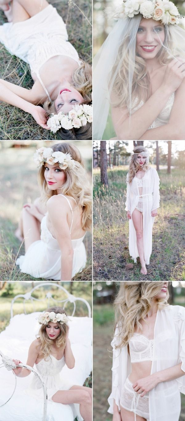 pretty BHLDN lingerie on SMP today! love the flower crown too