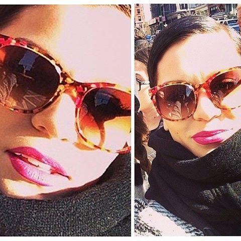 Jessie J spotted in NYC last week wearing her Thierry Lasry sunglasses AXXXEXXXY.  #eyewearbyolga #ebo #thierrylasry #vintage #acetate #madeinfrance #handcrafted #lef #luxe #luxury #sunglasses