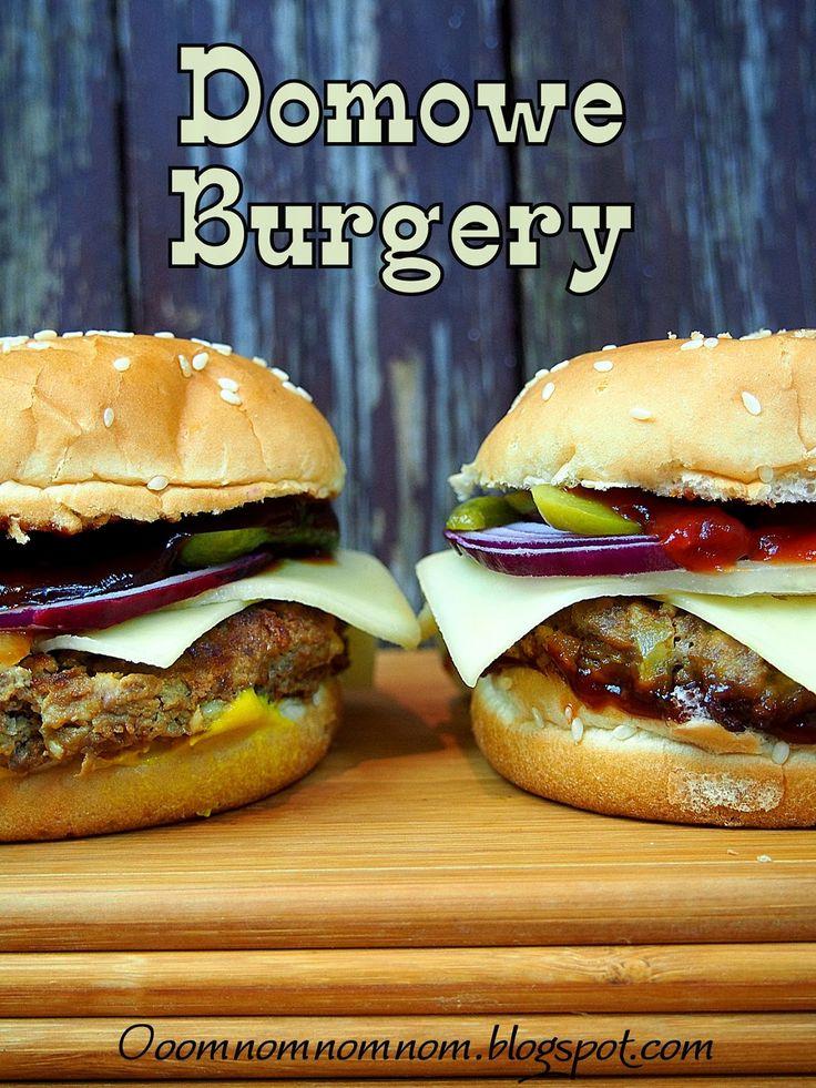 Ooomnomnomnom !: Pyszne domowe burgery / hamburgery, czyli najlepszy fast a raczej slow food to ten we własnym domu :)