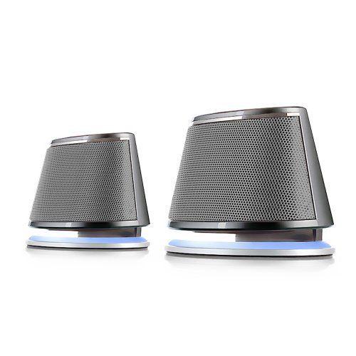 Satechi® Dual Sonic Speaker 2.0 Enceintes Haut-parleurs d'ordinateurs pour Apple Macbook Pro, Air / Asus / Acer / Samsung / Dell / Toshiba…